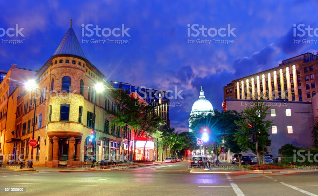 Madison, Wisconsin - Royalty-free Capital Cities Stock Photo
