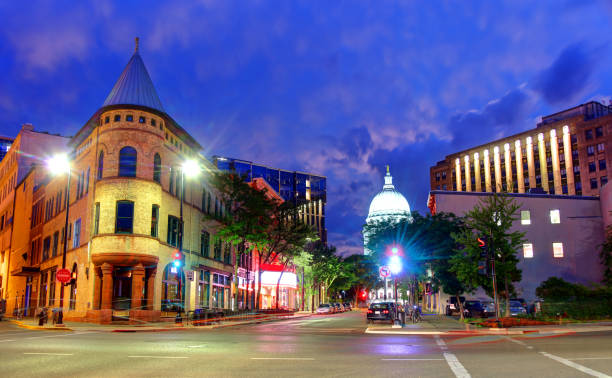 Madison, Wisconsin Madison is the capital of the U.S. state of Wisconsin and the county seat of Dane County. wisconsin state capitol stock pictures, royalty-free photos & images