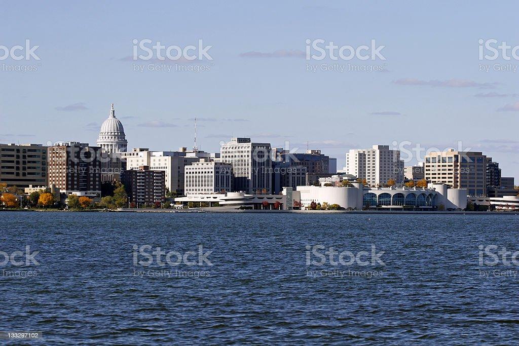 Madison Wisconsin Skyline royalty-free stock photo