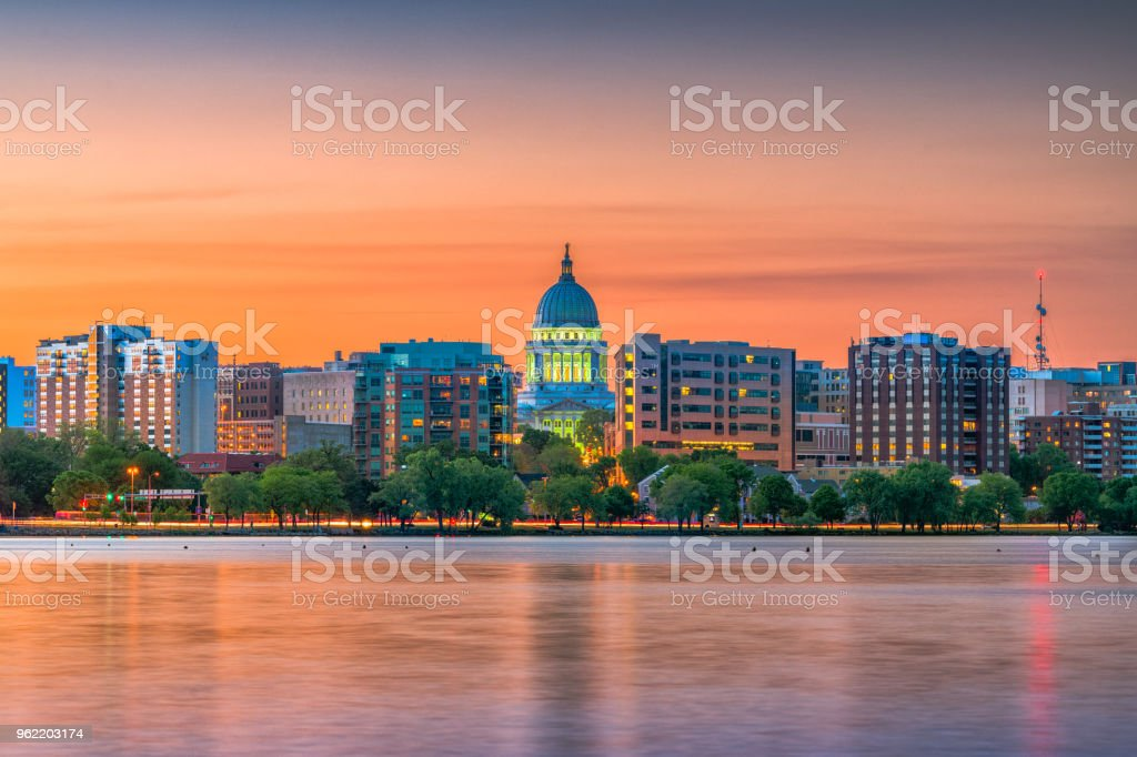 Madison, Wisconsin, USA Skyline stock photo