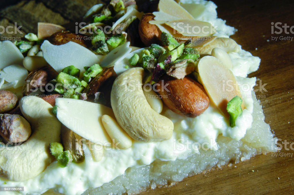 Madlooga, Arabic Sweets with Nuts stock photo