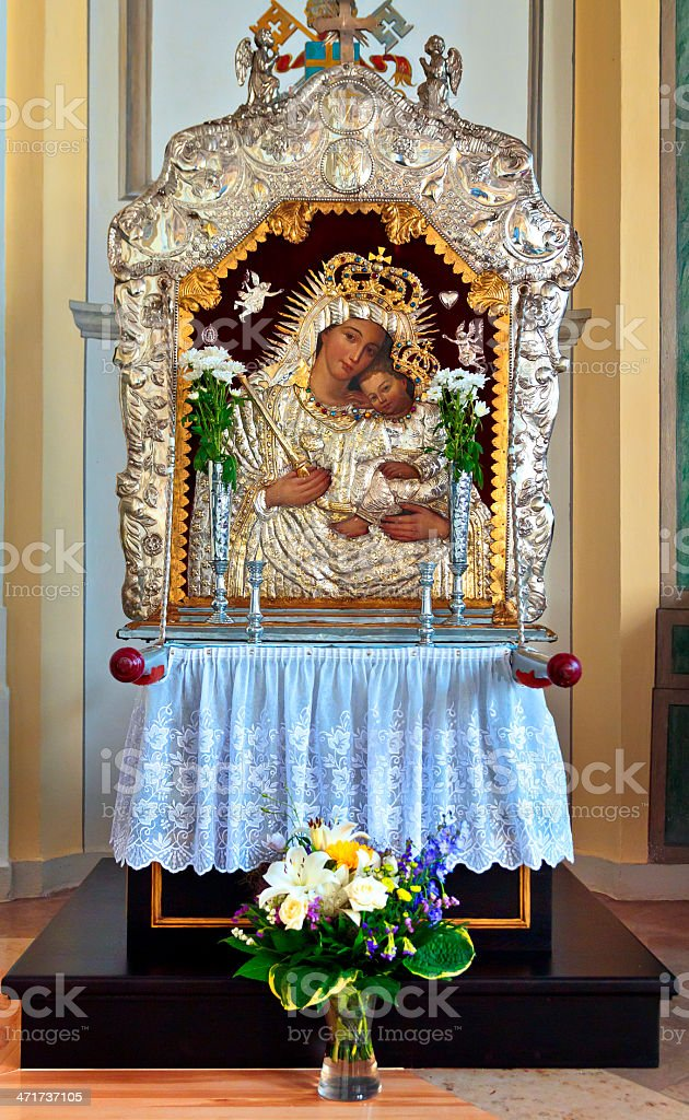 Madonna and Child royalty-free stock photo
