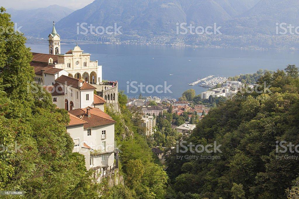 Madonna del Sasso Church, Locarno stock photo