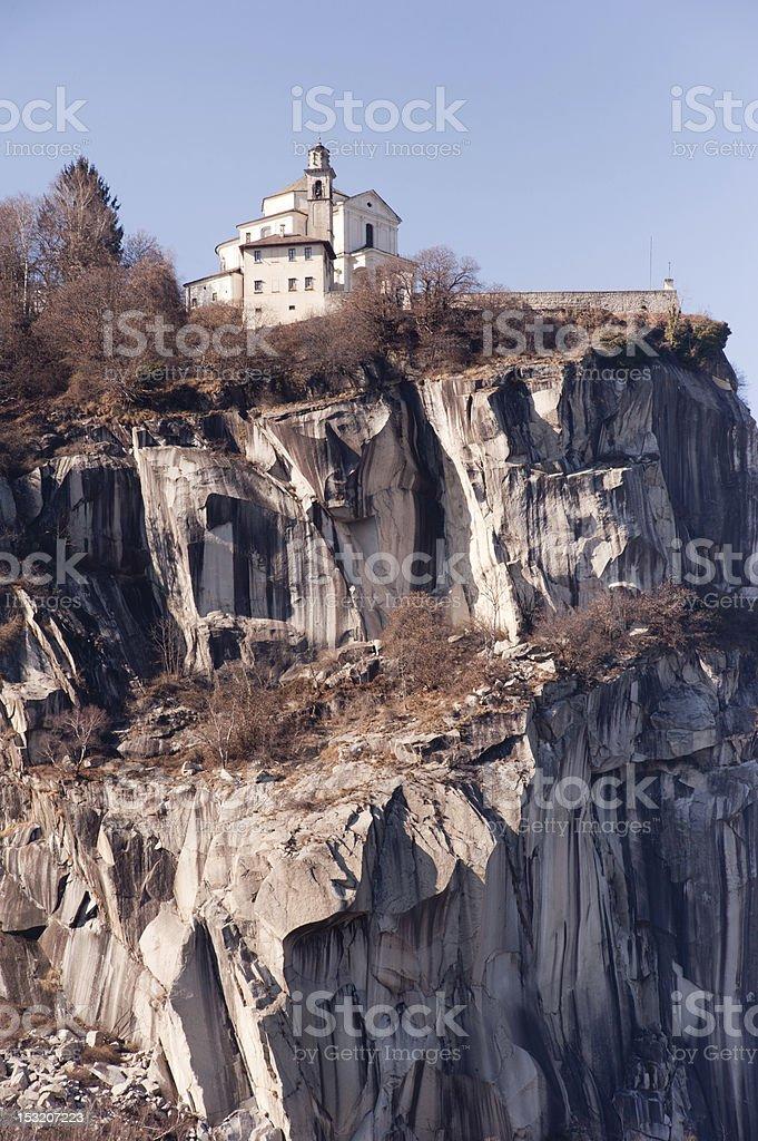 Madonna del Sasso, Lake Orta stock photo
