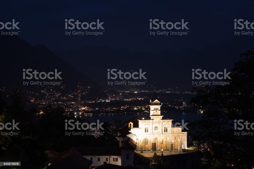 Madonna del Sasso stock photo