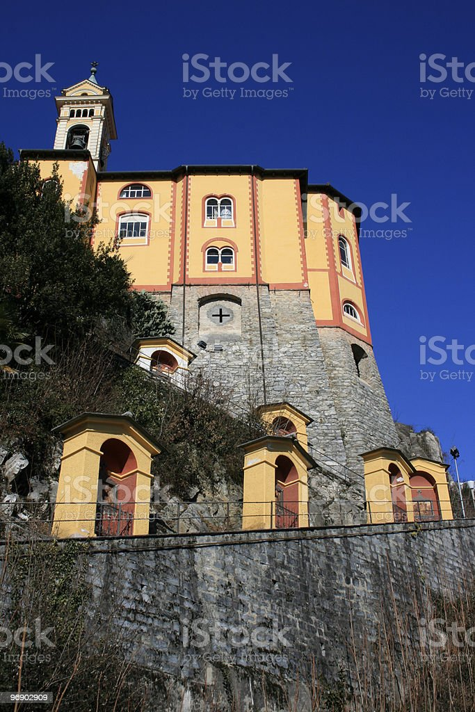Madonna del Sasso royalty-free stock photo