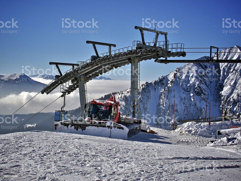Madonna di Campiglio ski resort in Italy stock photo