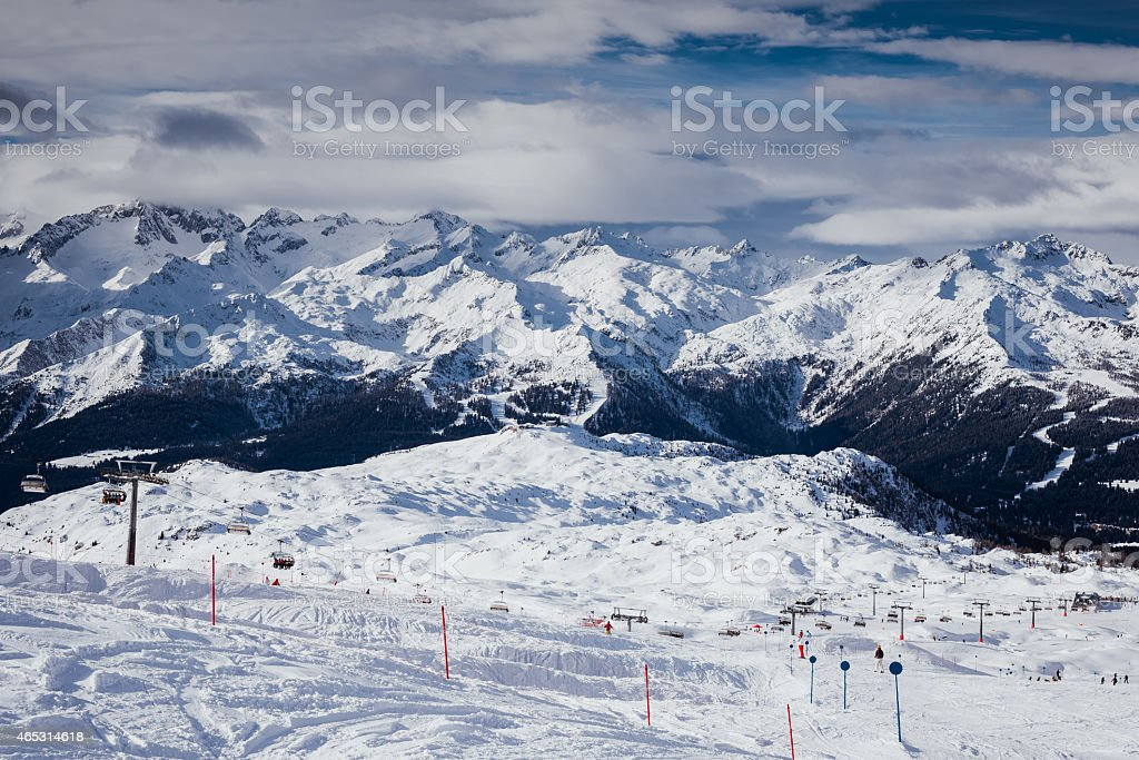 Madonna di Campiglio Ski Resort stock photo