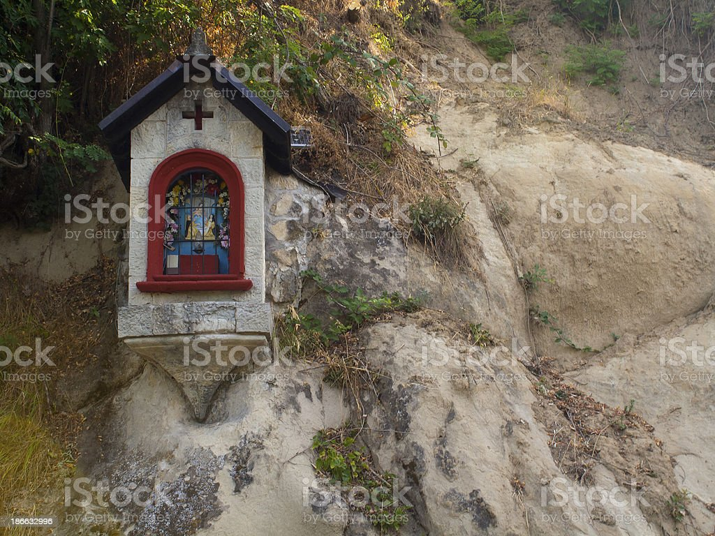 Madonna Installed on a Rock in Italy royalty-free stock photo