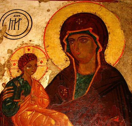 madonna of jerusalem and a child (baby jesus)