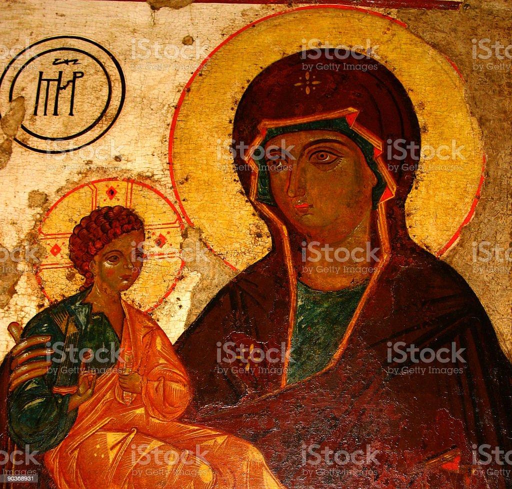 madonna of jerusalem and a child (baby jesus) stock photo