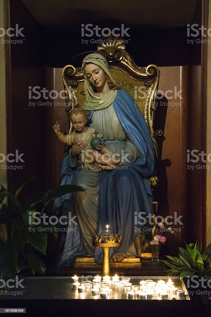 Madonna with Christ royalty-free stock photo
