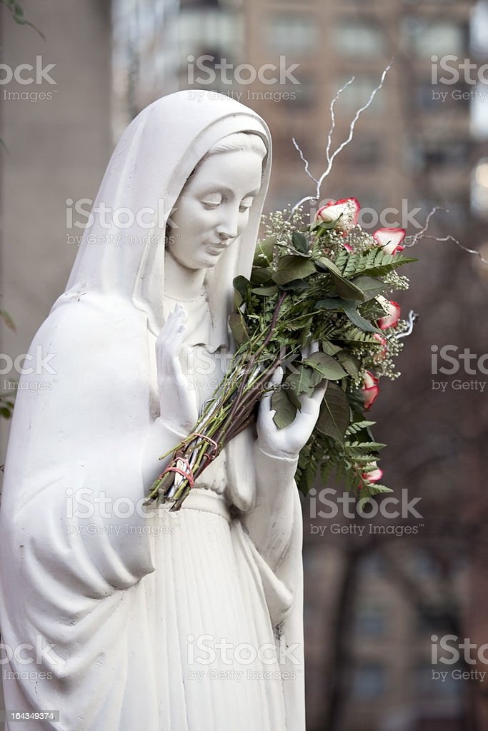 Madonna with flowers royalty-free stock photo