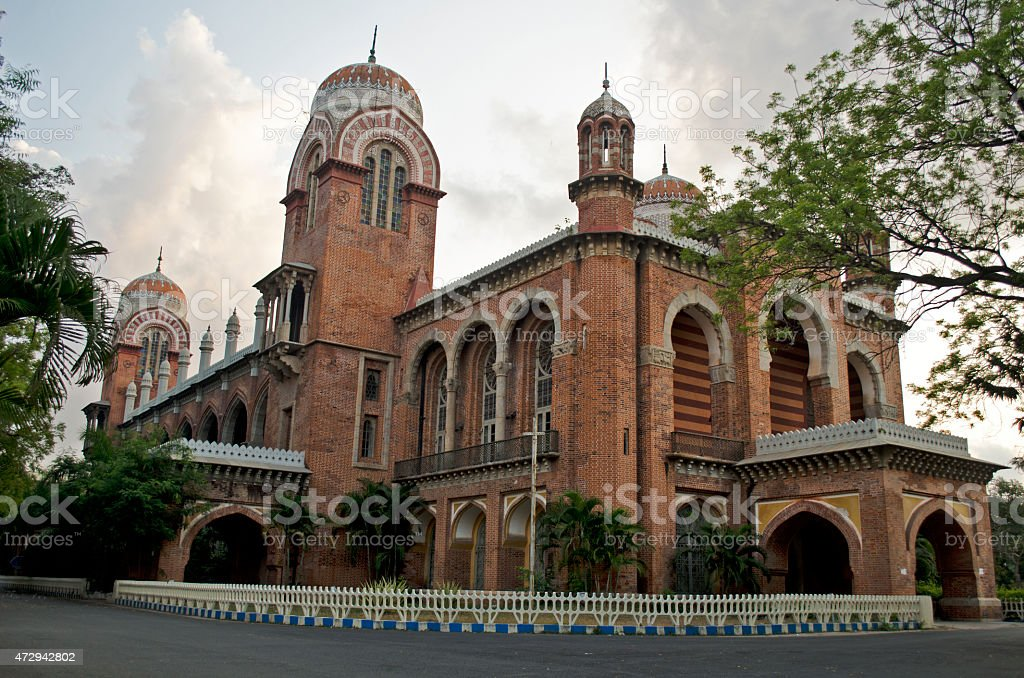 Madras University stock photo