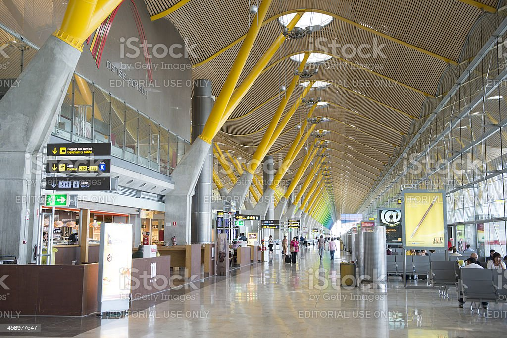 Madrid Airport royalty-free stock photo