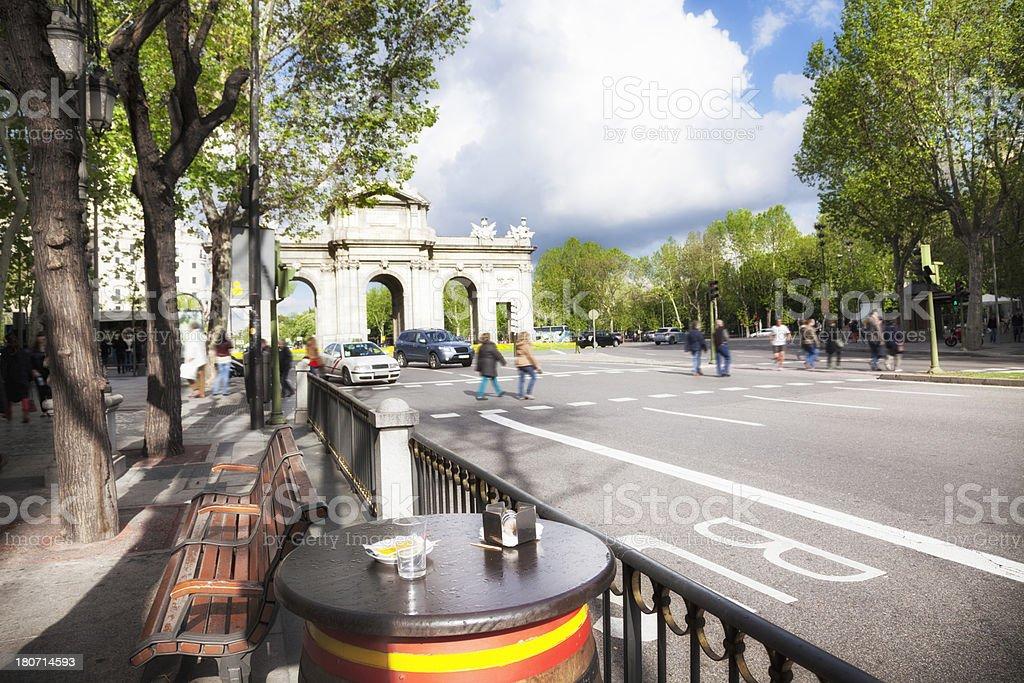 Madrid:  Alcala Gate stock photo