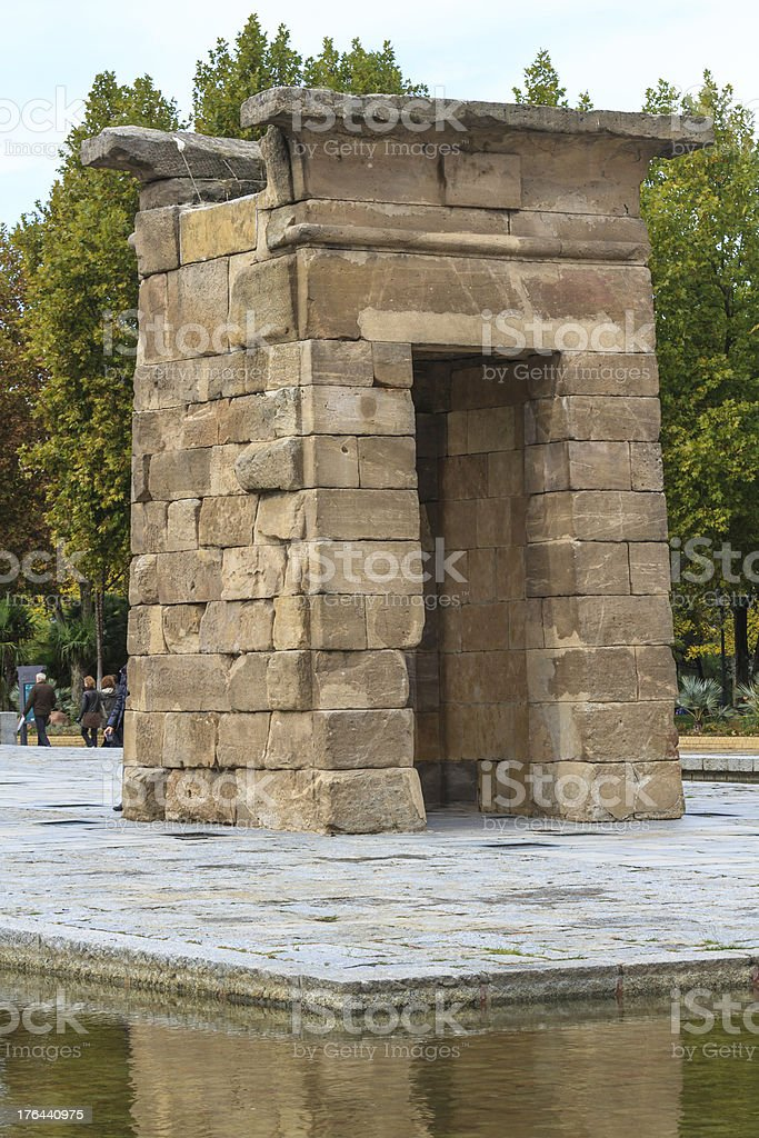 Madrid, ancient Egyptian temple of Debod, Spain stock photo