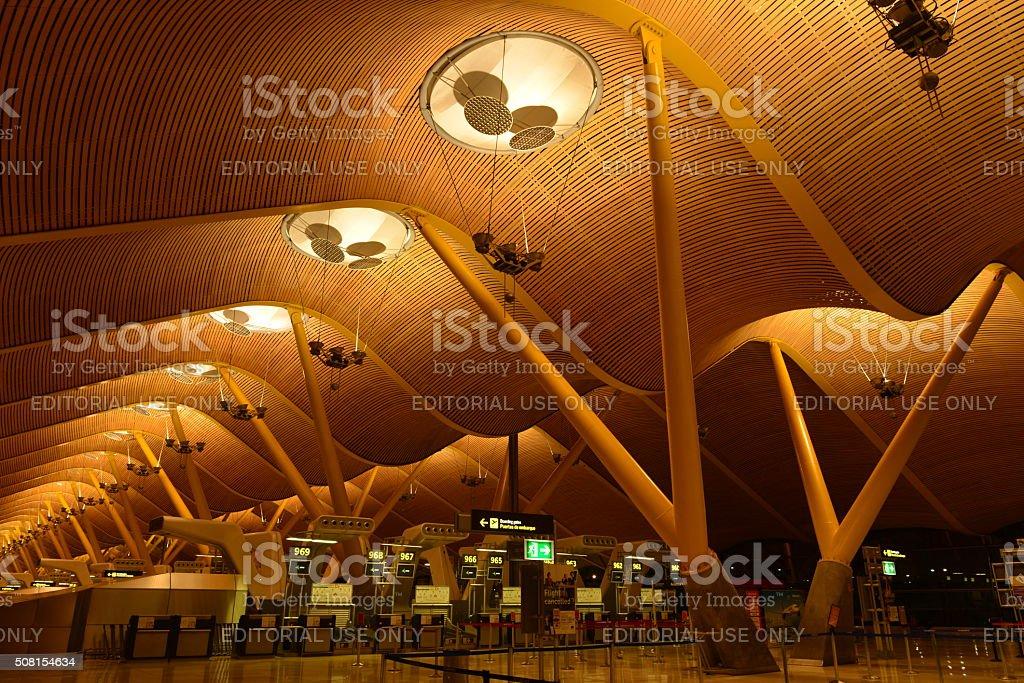 L'aéroport de Madrid-Barajas, Espagne. - Photo