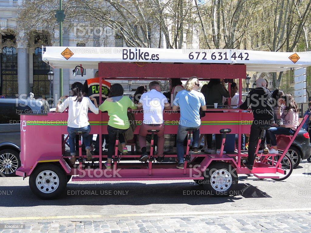 Madrid bicicleta Taxi foto de stock libre de derechos