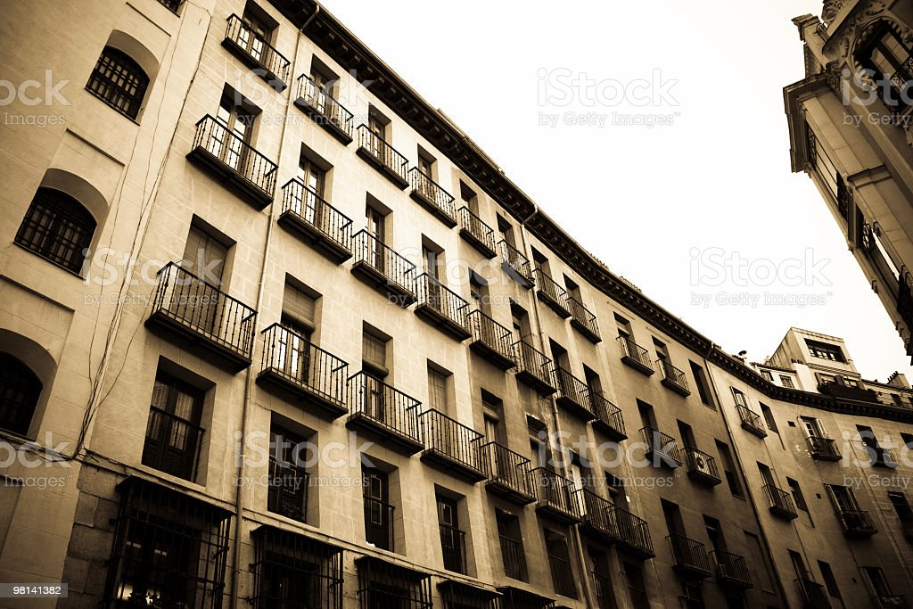 Madrid buildings royalty-free stock photo