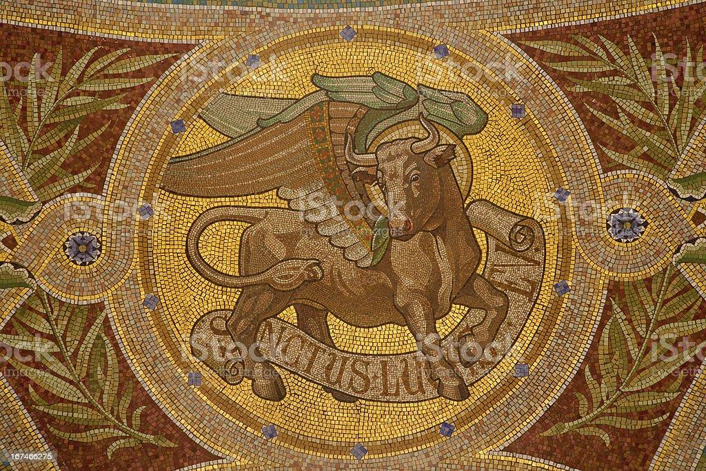 Madrid - Bull as symbol of Saint Luke the Evangelist royalty-free stock photo