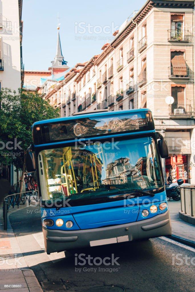 Madrid bus royalty-free stock photo