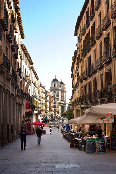 Madrid - Calle de Toledo in backgrounds St Isidro church stock photo