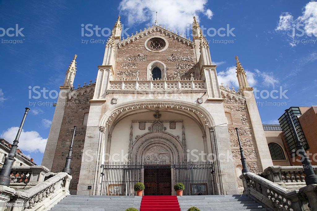 Madrid -  church San Jeronimo el Real stock photo