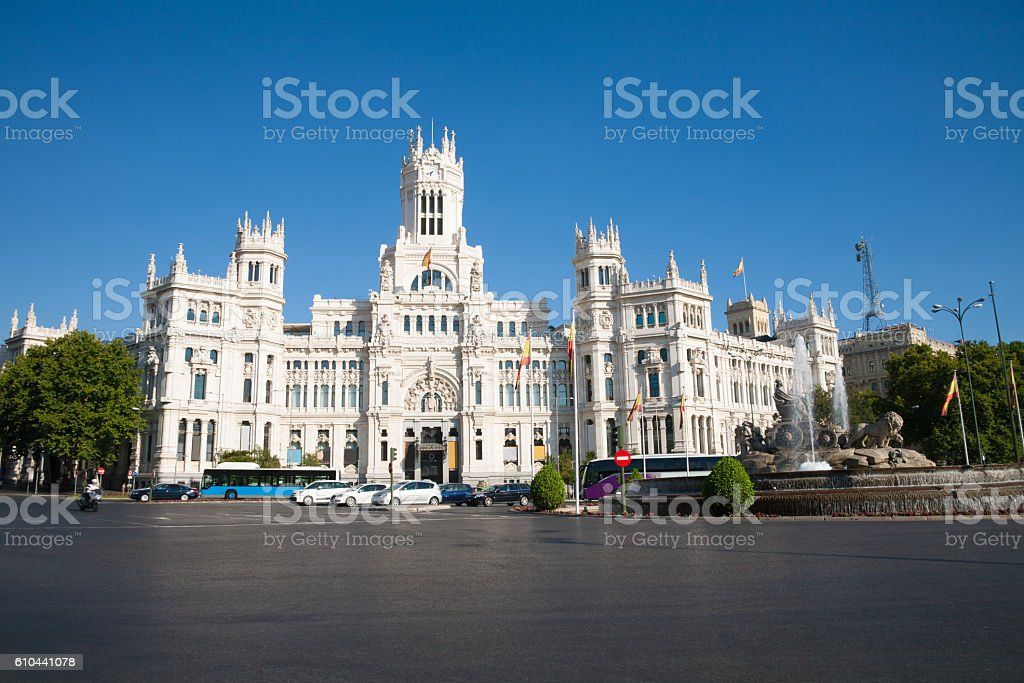 Madrid Cibeles square stock photo