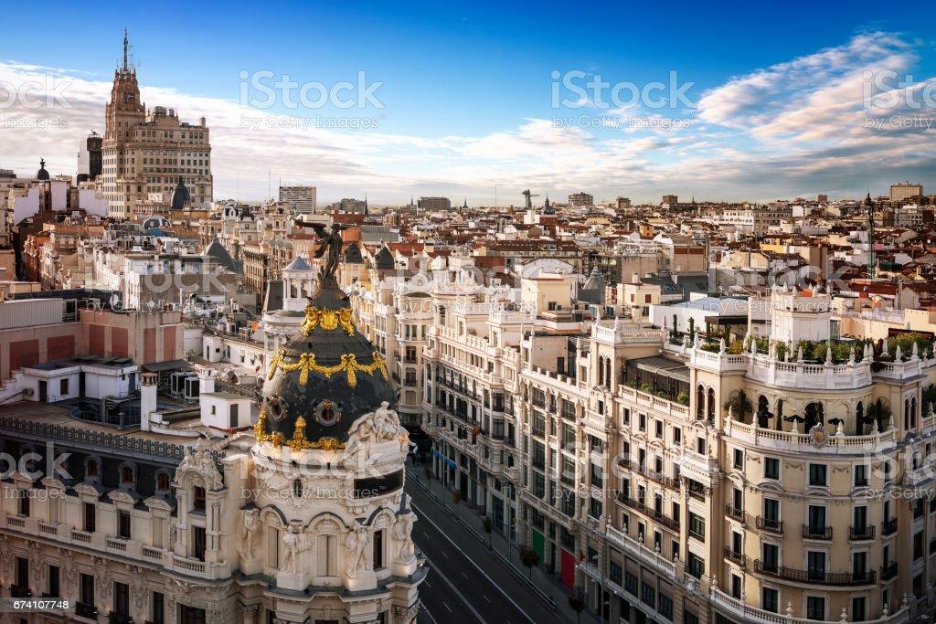 Madrid city center, Gran Vis Spain royalty-free stock photo