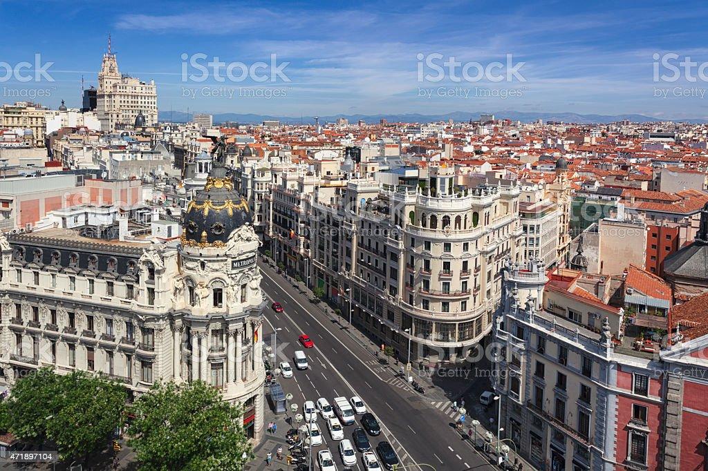 Madrid cityscape stock photo
