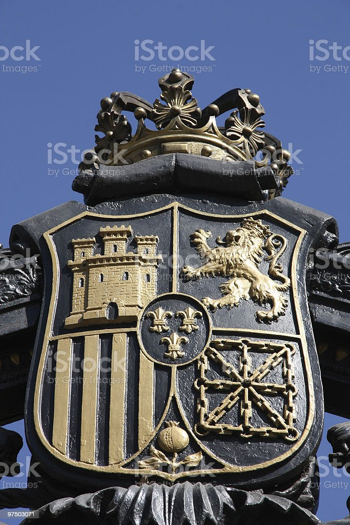 Madrid coat of arms royalty-free stock photo