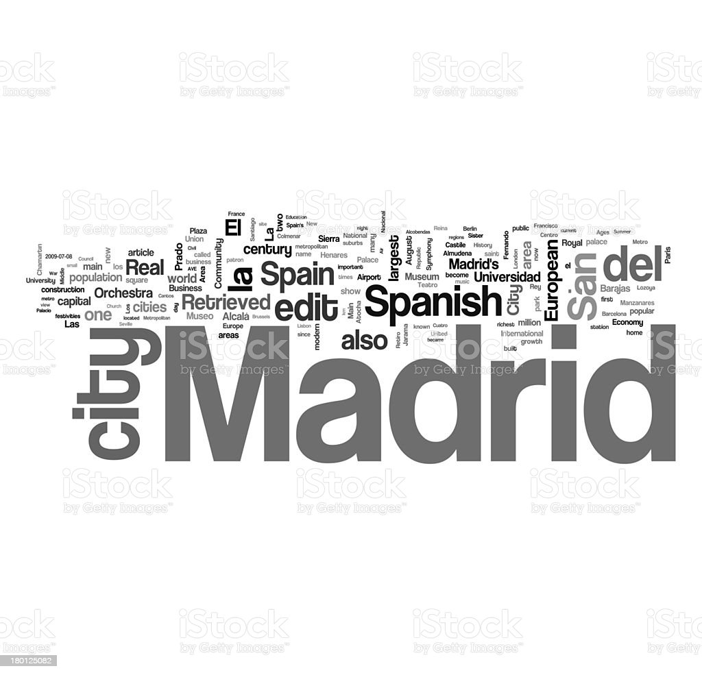 Madrid collage concepts royalty-free stock photo