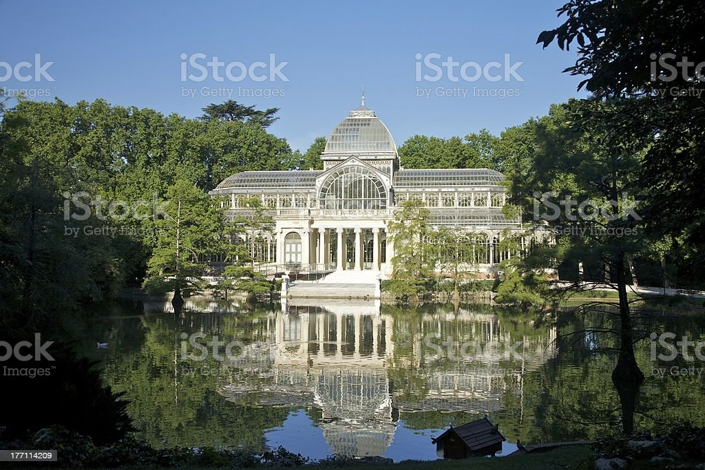 Madrid crystal palace royalty-free stock photo