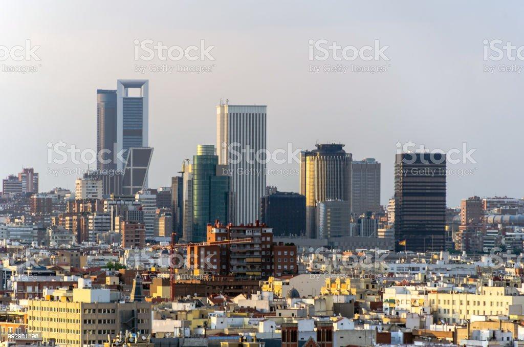 Distrito financiero de Madrid - Foto de stock de Aire libre libre de derechos