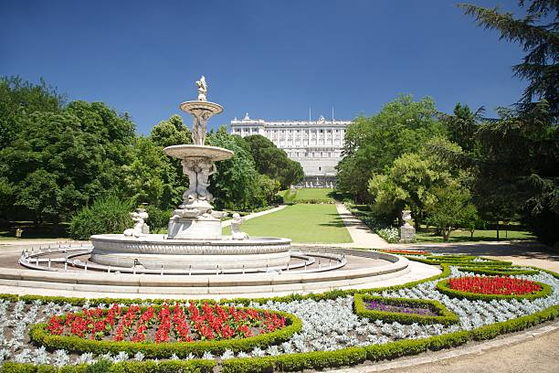 fountain Palast in Madrid Campo del Moro – Foto