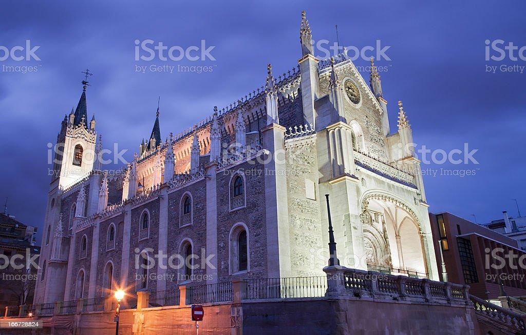Madrid - Gothic church San Jeronimo el Real stock photo