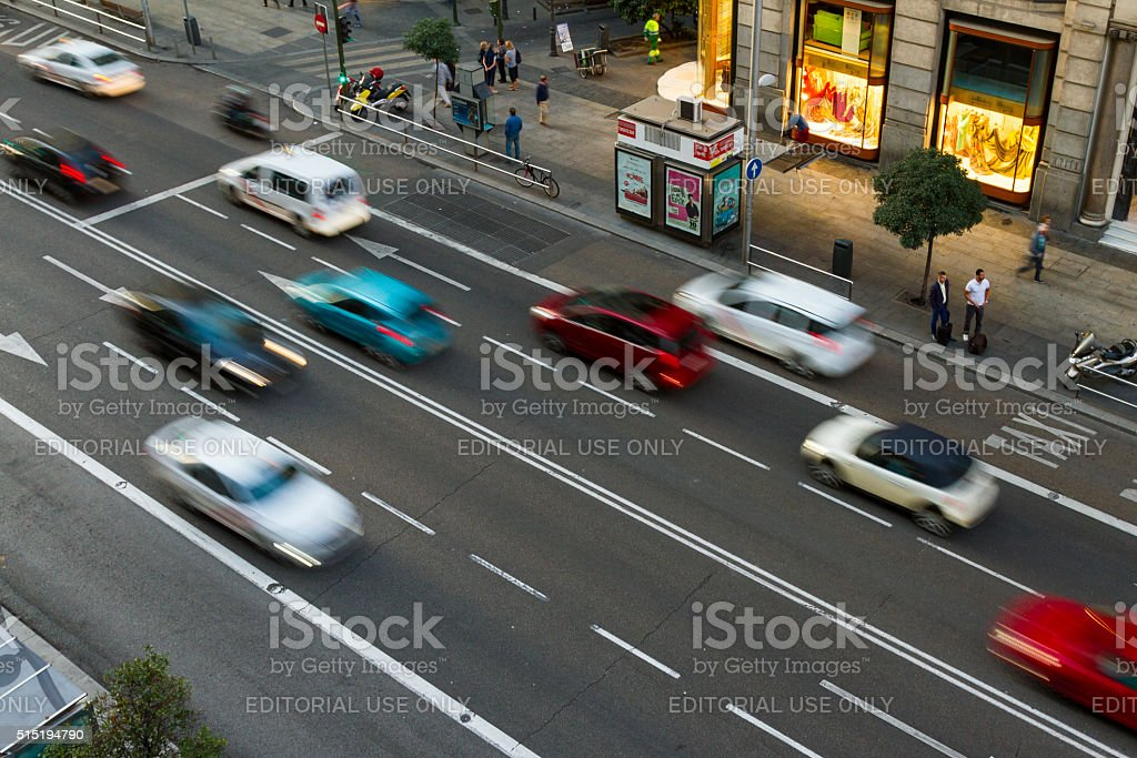 Madrid, Gran Via stock photo