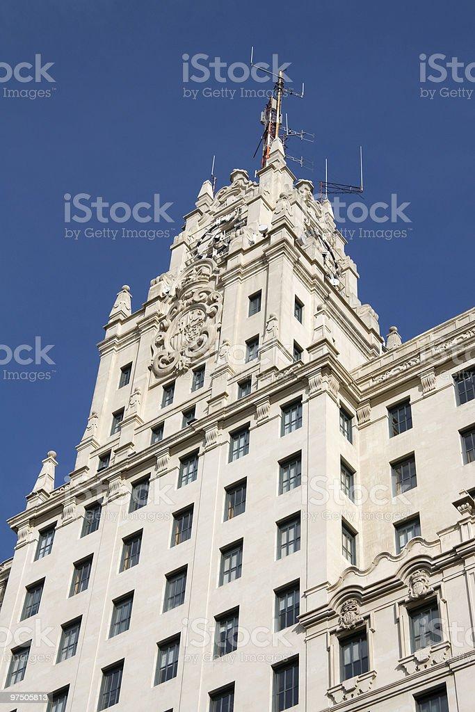 Madrid - Gran Via royalty-free stock photo