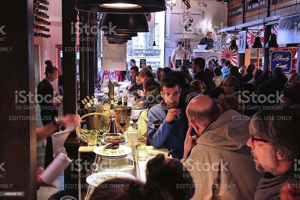 Madrid - Mercado San Miguel stock photo