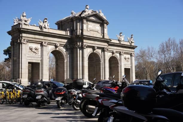 Madrid - Motor cycles stock photo