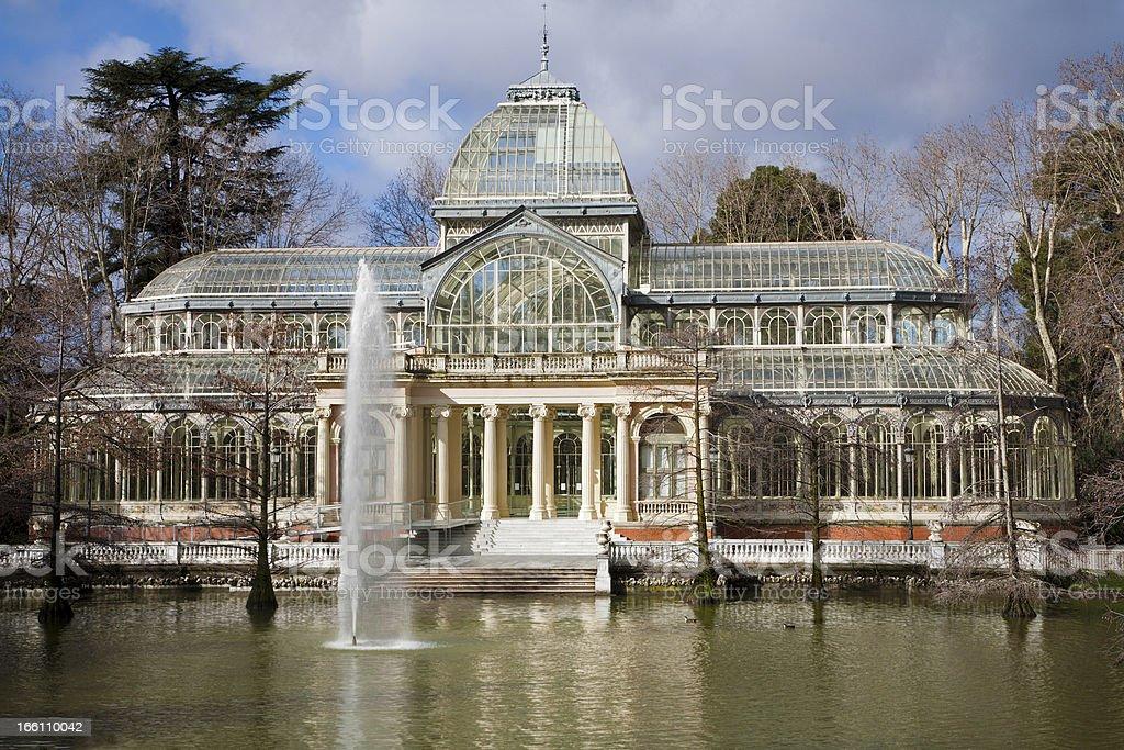 Madrid - Palacio de Cristal or Crystal Palace stock photo