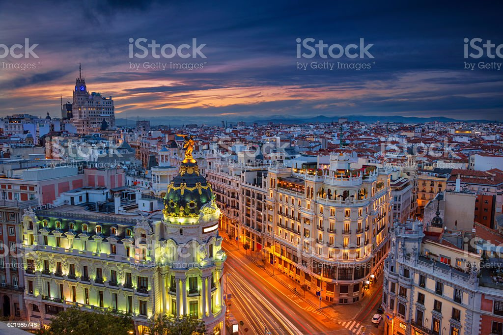 Madrid. stock photo