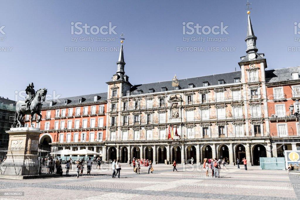 Madrid, Plaza Mayor stock photo