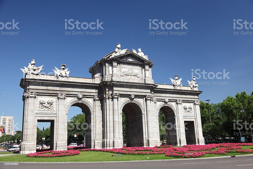 Madrid Puerta de Alaca stock photo