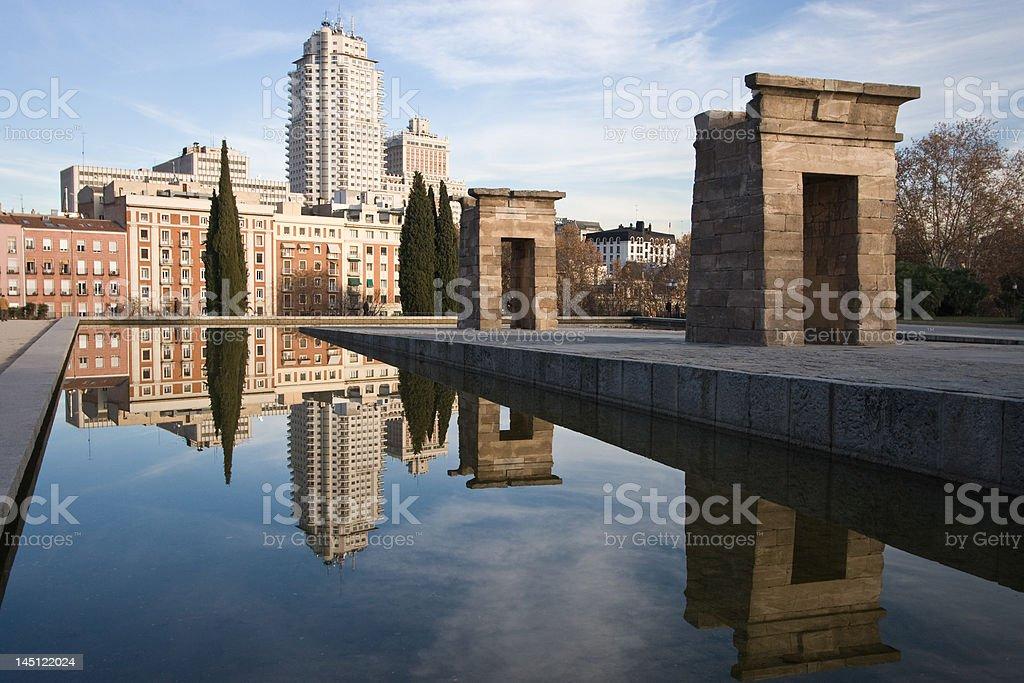 Madrid Reflections Landscape stock photo