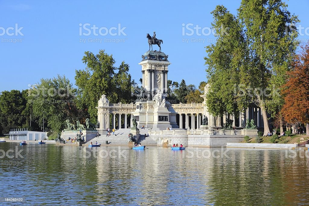 Madrid - Retiro Park stock photo