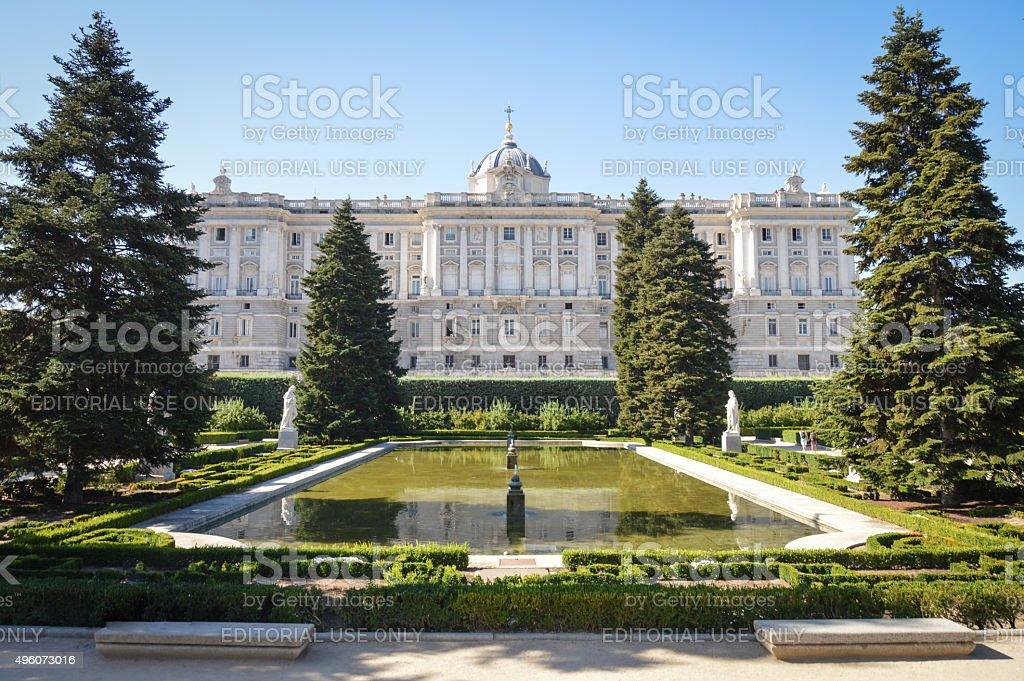 Madrid Royal Palace Exterior stock photo