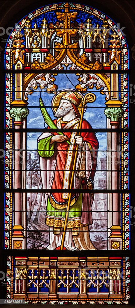 Madrid - Saint Eugene in church San Jeronimo stock photo