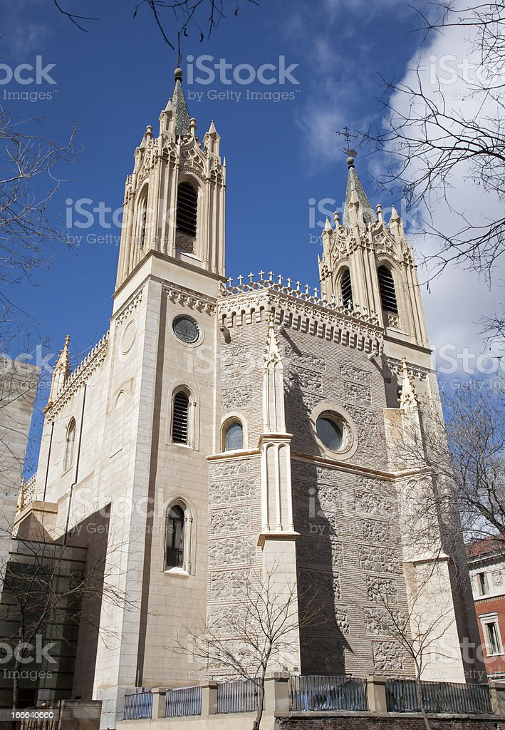 Madrid - San Jeronimo el Real from east stock photo